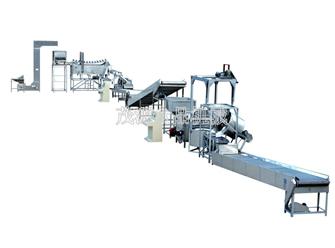 济南花生米自动油炸生产线
